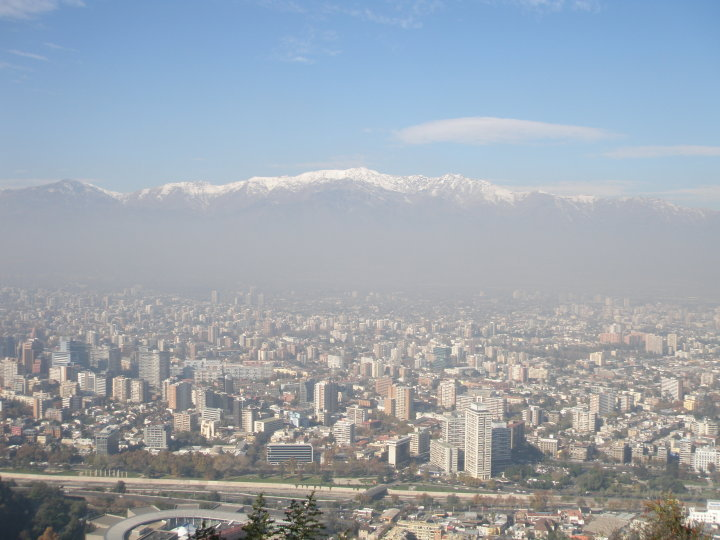 Editor's note: Smog is a persistent problem in Santiago, and I took this during my visit there in 2010.