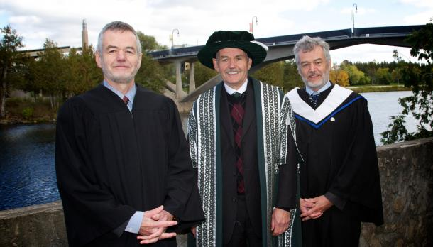 My triplet uncles, together at Trent University in Ontario. (Trent Daily News)