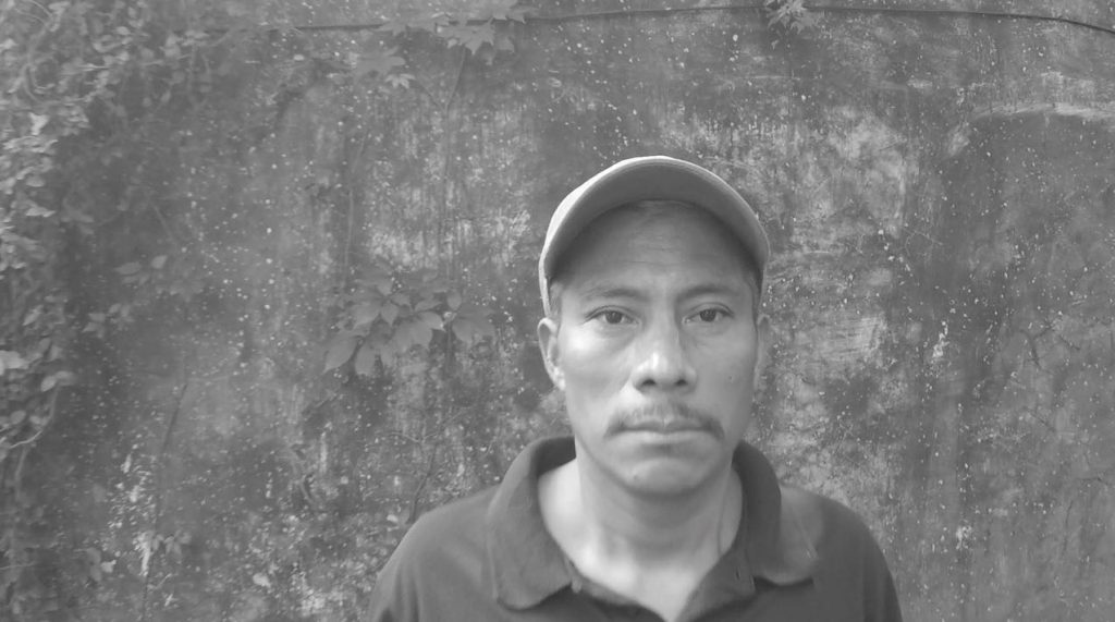 Casimiro Pérez speaks out in the film, against clandestine imprisonment and widespread intimidation from the Committee of Campesino Unity (CUC).